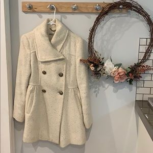 Kenneth Cole cream & gold fleck winter coat